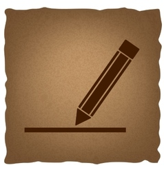 Pencil sign Vintage effect vector image
