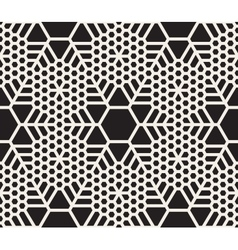 Seamless black and white snowflake grid vector