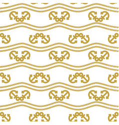 Seamless pattern with ropes and anchors ongoing vector