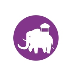 Silhouette indian elephant festival purple vector