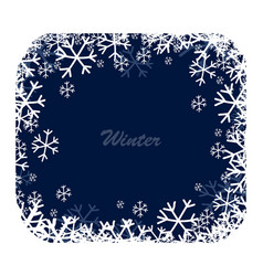 snow square frame vector image