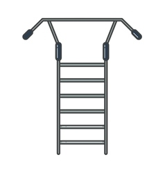 Swedish staircase sports gymnastics ladder or wall vector