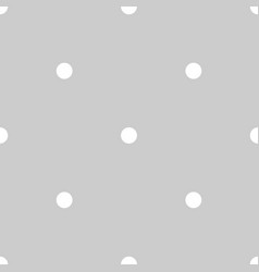Tile pattern with white polka dots on grey vector