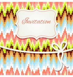 Vintage invitation card with abstract ornament vector