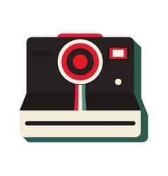Vintage instant camera icon vector