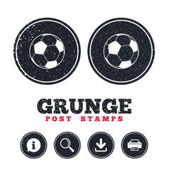 football ball sign icon soccer sport symbol vector image