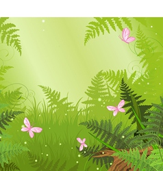 Magic forest landscape vector