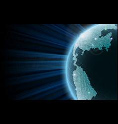 Earth big data vector