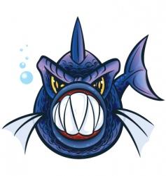 piranha vector image