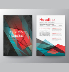 Abstract triangle geometric brochure flyer design vector