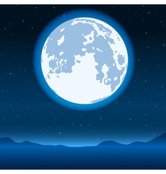 Blue full moon vector