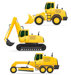 Car equipment for road works vector