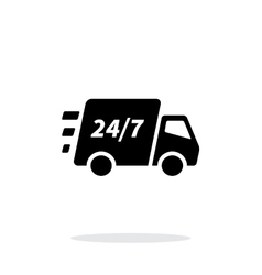 Delivery support seven days a week icon on white vector