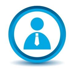 Blue man icon vector image
