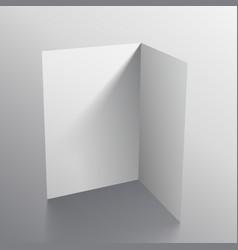 3d white black paper card mockup vector
