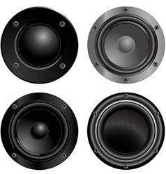Set of sound speakers vector
