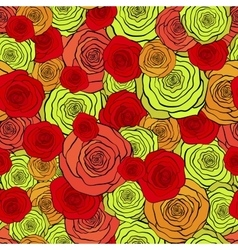 Seamless pattern with beautiful red and yellow vector