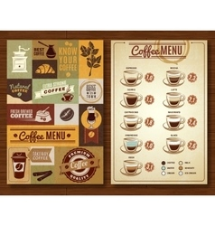 Vintage coffee menu 2 banners board vector