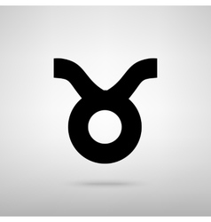 Taurus sign vector