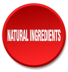 Natural ingredients red round flat isolated push vector