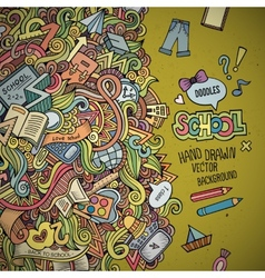Abstract decorative doodles school background vector