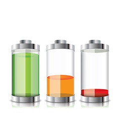 Battery icon with colorful charge level vector