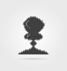 black pixel explosion icon vector image