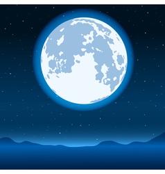 Blue full moon vector