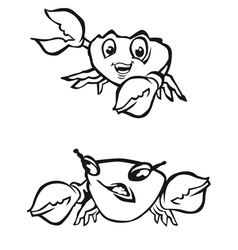 cartoon crabs vector image vector image