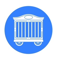 Circus wagon icon in black style isolated on white vector image