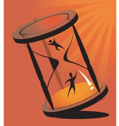dancing hour glass vector image vector image