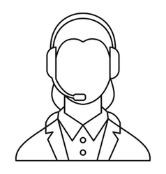 Dispatcher consultant icon outline style vector
