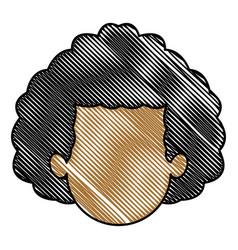 Drawing head man faceless people avatar vector