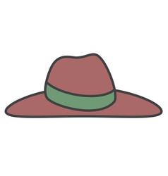Elegant female summer hat vector