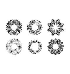 Ethnic ornamental cirular frames set vector image