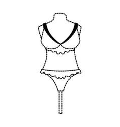 Female underwear on mannequin vector