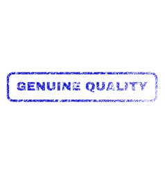 Genuine quality rubber stamp vector