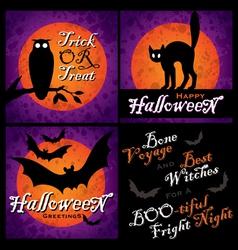 halloween designs set vector image vector image
