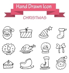 Hand draw christmas icons stock vector