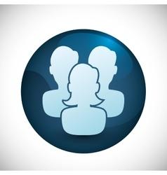 People profile silhouette vector image
