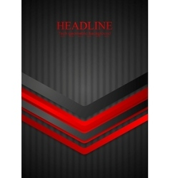Red arrows on black striped backdrop vector