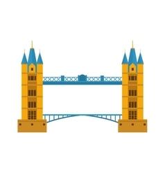 River bridge vector image