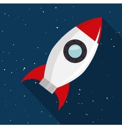 Rocket toy isolated icon vector
