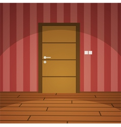 Room with door vector