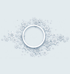 Round christmas banner vector