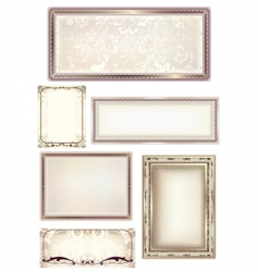 set of 6 frames vector image vector image