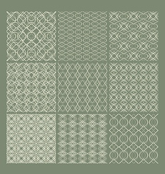 Set of 9 seamless patterns vector image vector image