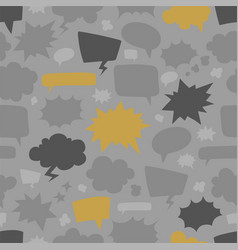speech bubbles seamless pattern vector image vector image