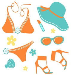 Summer women set vector image vector image