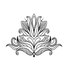 Symmetrical floral design element vector